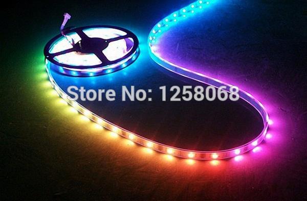 led strip 15m/lot WS2811 Magic LED Strip 5050 RGB SMD Intelligent Strip Light Dream Color ip67 waterproof dc12v free shipiing(China (Mainland))