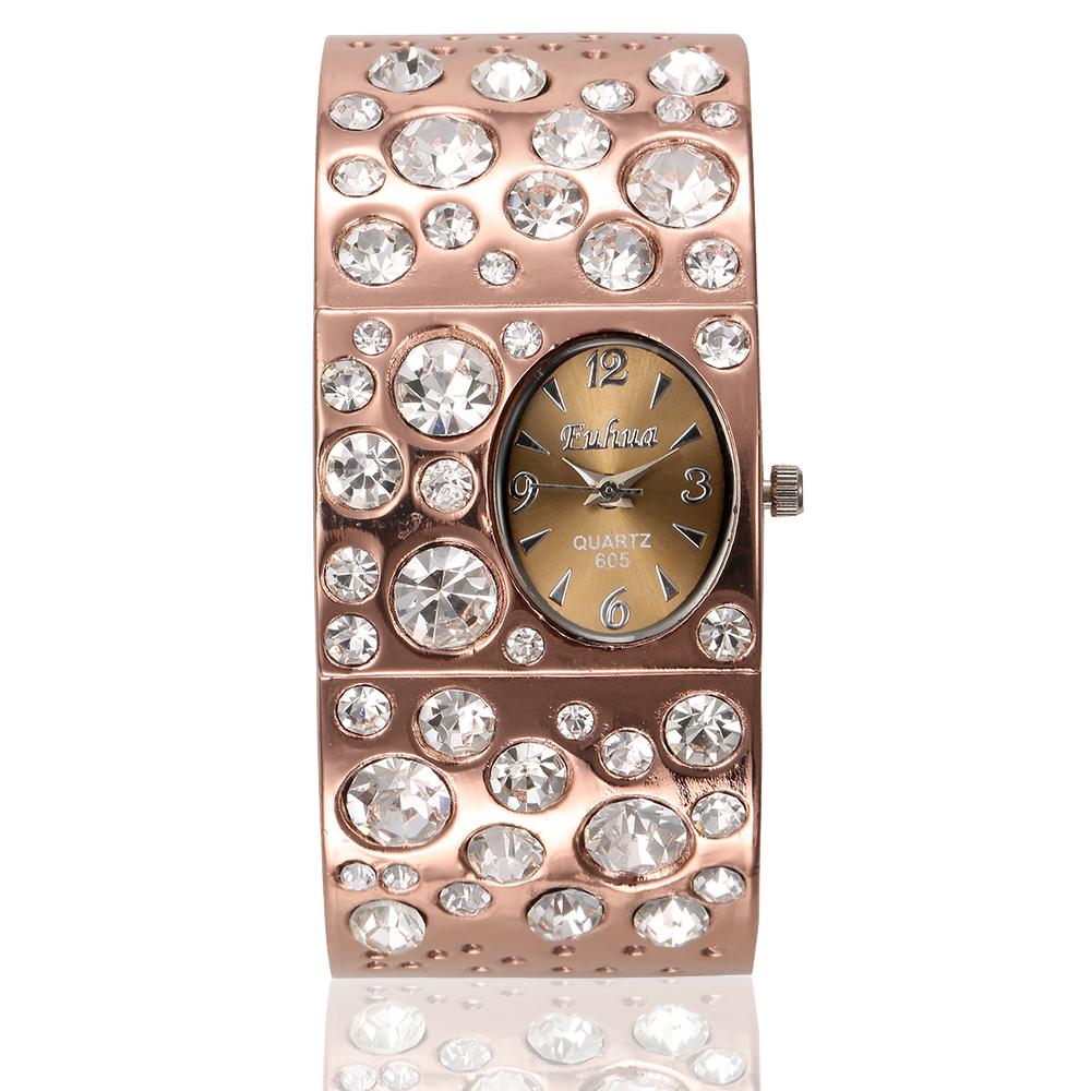 Women Crystal Rhinestone Quartz Watch Analog Business Watches Ladies Fashion Casual Dress Wristwatches FH01 - Guangzhou Xiou watch store