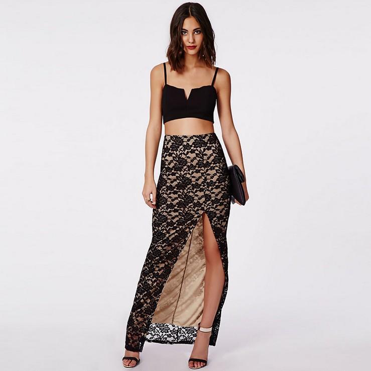 Simple Fashion Summer Women Tulle Chiffon Skirt Women39s Pleated Maxi Skirts
