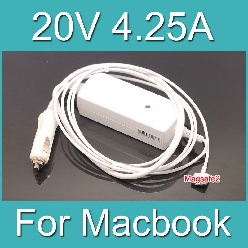 White DC 20V 4.25A Laptop Adapter Magsafe 2 T tip Car Power Charger For Macbook Pro 15 17Retina Display A1425 A1398 A1424<br><br>Aliexpress