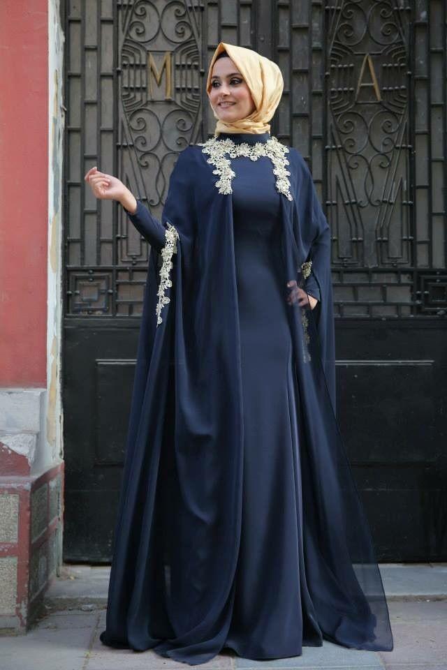 Высокая Шея Платье-де-феста лонго Темно-Синий Вечернее Платье 2016 Дубай Арабский Мусульманский Вечернее Платье Аппликации Пром Платье JJK225