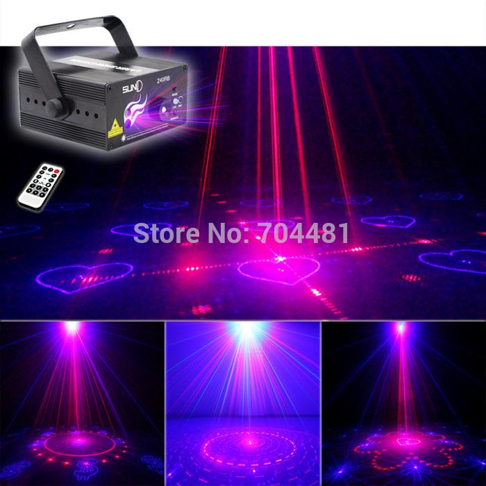 buy suny 3 lens blue red rb 40 patterns laser xmas led club bar stage lighting. Black Bedroom Furniture Sets. Home Design Ideas