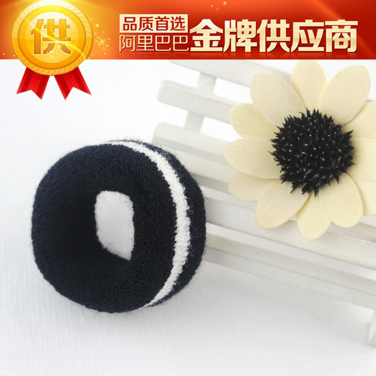 Hair rope Korean fashion explosion models black and white flower head hair band hair accessories manufacturers wholesale hair Je(China (Mainland))