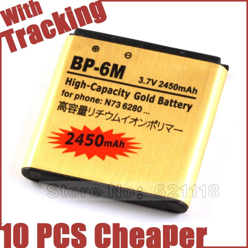 BP 6M BP6M BP 6M Gold Battery Batteries For Nokia N93 N73 9300 6233 6280 6282