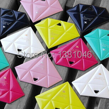Diamond Shape Glossy Colorful Luggage Tags Labels Travel Accessories Identifier With ID Name Card(China (Mainland))