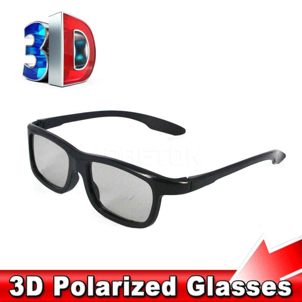 Fahion 3D Polarized Glasses Stereo Glasses Sunglasses Style for Samsung Smart TV for LG for Sony for Sharp TV(China (Mainland))