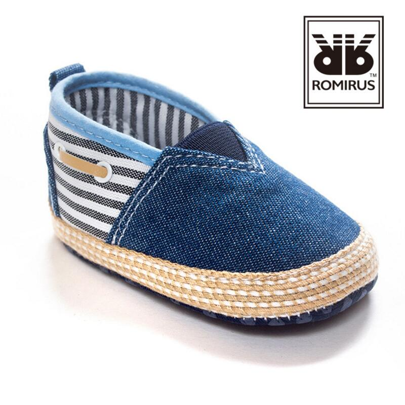 ROMIRUS Baby Boy Shoes 2016 New Brand Blue Jean Cotton High Quality Toddler Soft Sole First Walkers Shoes 0-12 Month(China (Mainland))