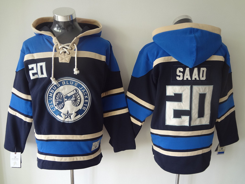 Columbus Blue Jackets 20 Brandon Saad Stitched Hoodie Men's Ice Hockey Hoodies/ Hooded Sweatshirt