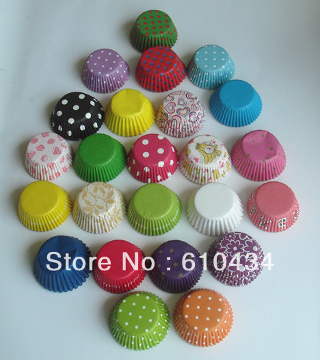 Mini Paper Candy Cup : Chocolate mould mini paper cups cupcake liners muffin