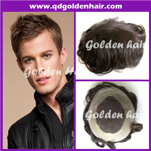 100% Poly Skin Injected Hair Toupee(China (Mainland))