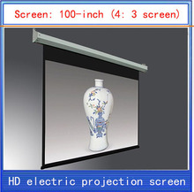 100-inch projection screen \ home theater projector screen \ HD projector screen \ electric curtain \ Wireless Remote