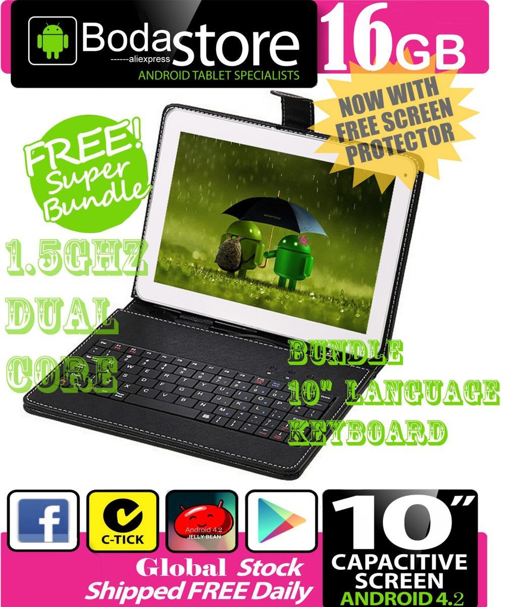"10.2"" inch 16GB Boda GOOGLE ANDROID Jelly Bean 4.2 TABLET PC CAPACITIVE SCREEN E READER PAD TAB Bundle 10"" Keyboard(China (Mainland))"