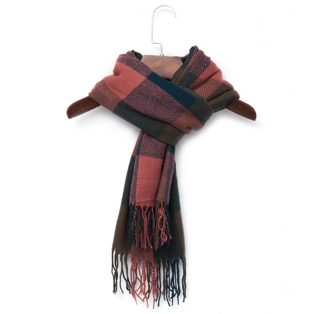 Women Winter Scarves Knitted Blanket Scarf Luxury Cashmere Wool Plaid Scarf Men Warm Tippet Women Shawls And Scarves(China (Mainland))