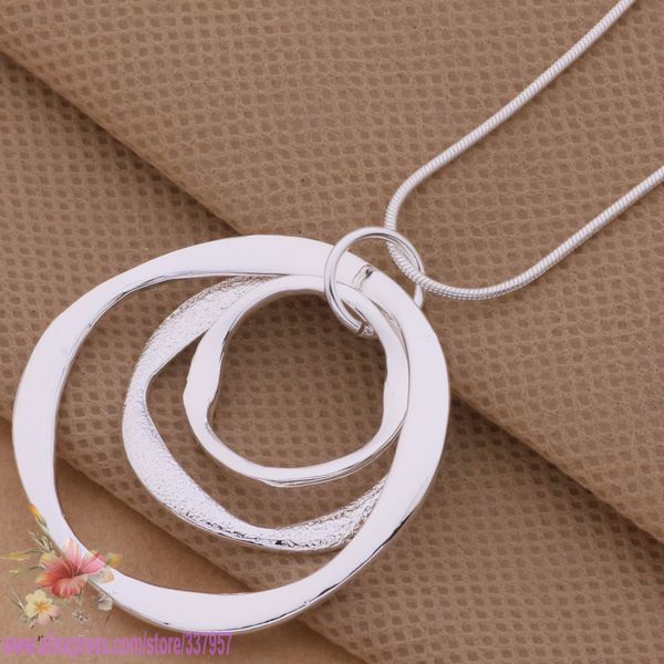 product AN200 925 sterling silver Necklace 925 silver fashion jewelry pendant Article 3 the circular strip /dumamlta dftalxaa