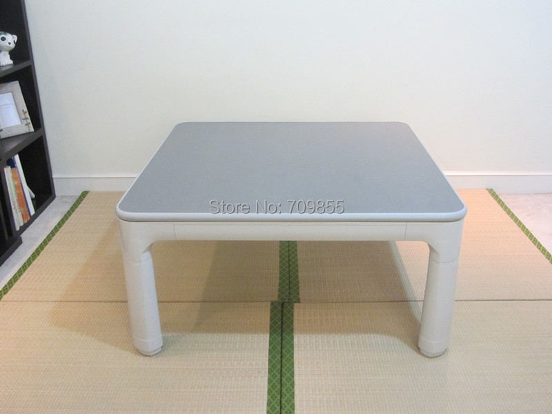 Japanese Kotatsu Furniture Legs Folding Reversible Top White/grey Small Square 60cm for 1-2 Person Low Heated Asian Low Table(China (Mainland))