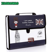 12 layers Durable Waterproof Book A4 Paper File Folder Bag Accordion Style Document Rectangle expanding wallet Office School(China (Mainland))