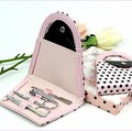 4pieces Hot birthday Gift Favor Polka Flip Flop Stainless Nail Clipper Nipper Cutter Pedicure Manicure Set