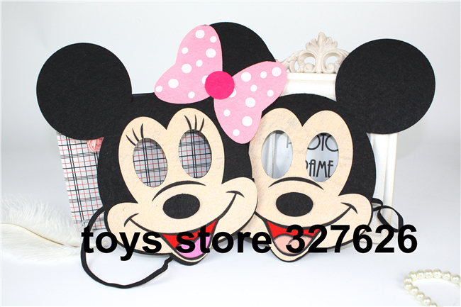 Здесь можно купить  Hot Sale 20pcs/lot Mickey Minne Mask Children/KIDS Party Masks Masquerade, wholesale mickey mouse birthday party supplies  Дом и Сад