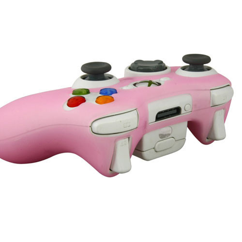 Pink Soft Silicon Protector Skin Case Cover for Microsoft Xbox 360 Controller Game(China (Mainland))