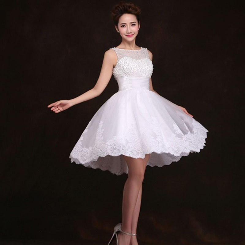 2016 new white ivory short wedding dresses the brides sexy for Good wedding dresses for short brides