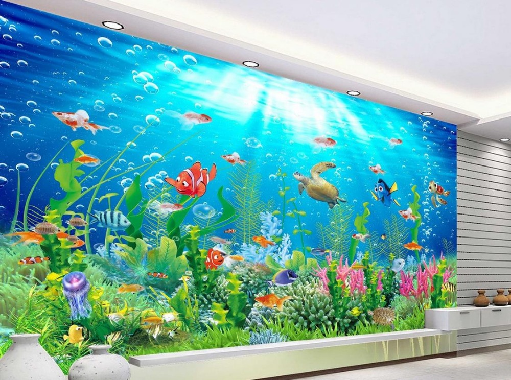 Online get cheap ocean wall murals for Cheap 3d wallpaper