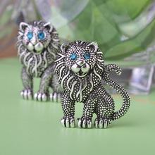 5 pcs Lion King Brooches Silver Plated Brooch Clip