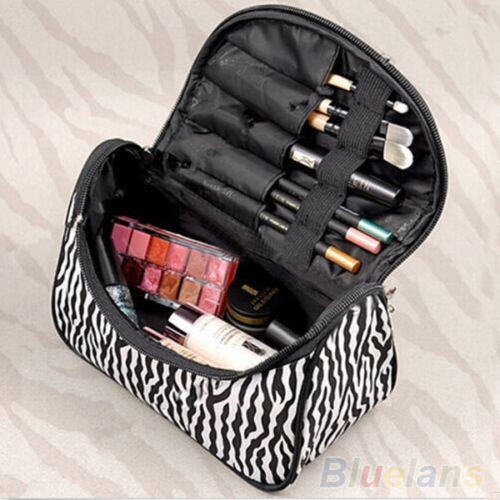 Portable Zebra Travel Wash Storage Toiletry Pouch Cosmetic Case Makeup Bag 2WV5(China (Mainland))