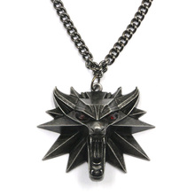 2015 Hot Sale The Witcher Pendant Necklace Wizard The Witcher 3 Wild Hunt Medallion Necklace The Wild Hunt 3 Figure Game NK00108