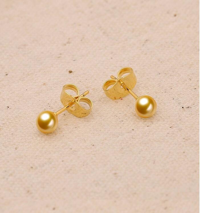 Gold stud earrings for women