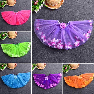 Baby Girls Kid Toddler Child Petal Camellia tutus Dance Short Dresses PettiSkirt<br><br>Aliexpress