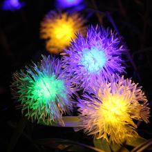 Солнечных батареях Chuzzle бал фея огни строки, 20 RGB из светодиодов глобус освещение для наружного, сады, ну вечеринку