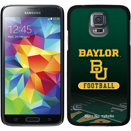Baylor Samsung Galaxy S5 Cases With Football Field Repeating Basketball Curved flowers Alumni Mark Design