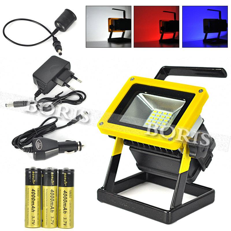 buy 10w floodlight rechargeable 24 led. Black Bedroom Furniture Sets. Home Design Ideas