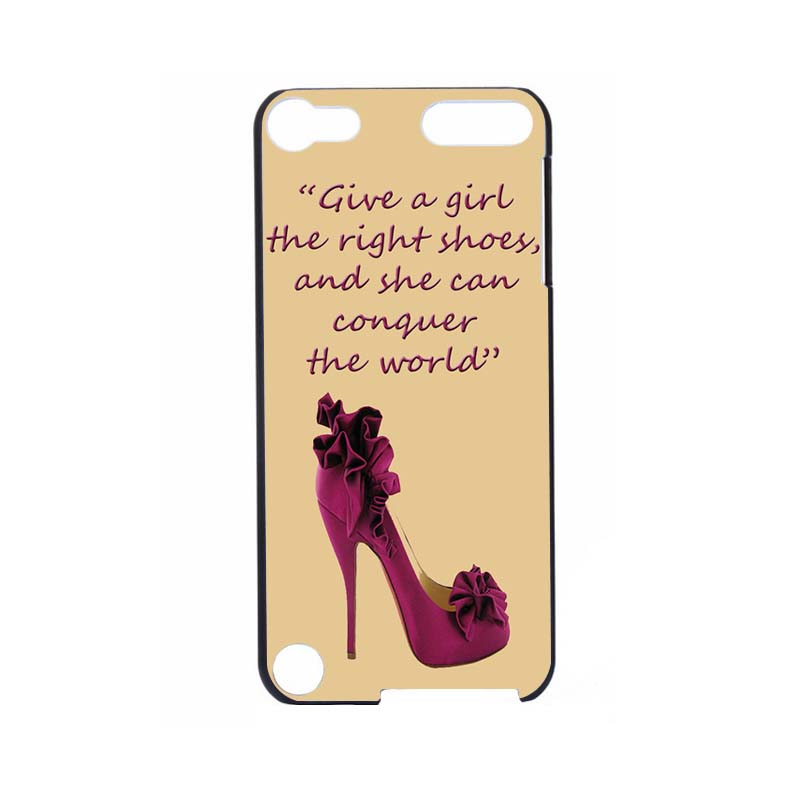 Girl Shoes Best Mobile Pouches Durable Hard Print Case For ipod Touch5(China (Mainland))