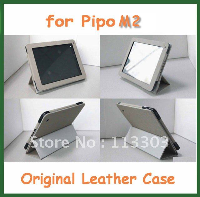 Original PU Leather Case for 9.7 inch Pipo M2 RK3066 Dual Core Tablet PC Grey Color in Stock(China (Mainland))