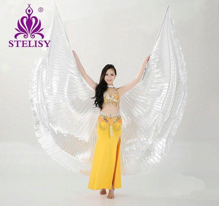 2016 Hot Belly Dance Isis Wings Oriental Design New Wings without Sticks(China (Mainland))