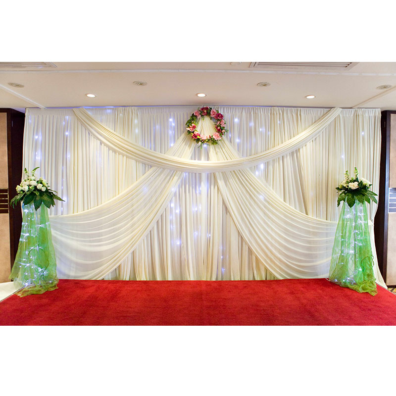 2016 new design mandap 3 6 wedding curtain drapery for sale white backdrop wedding backdrop. Black Bedroom Furniture Sets. Home Design Ideas