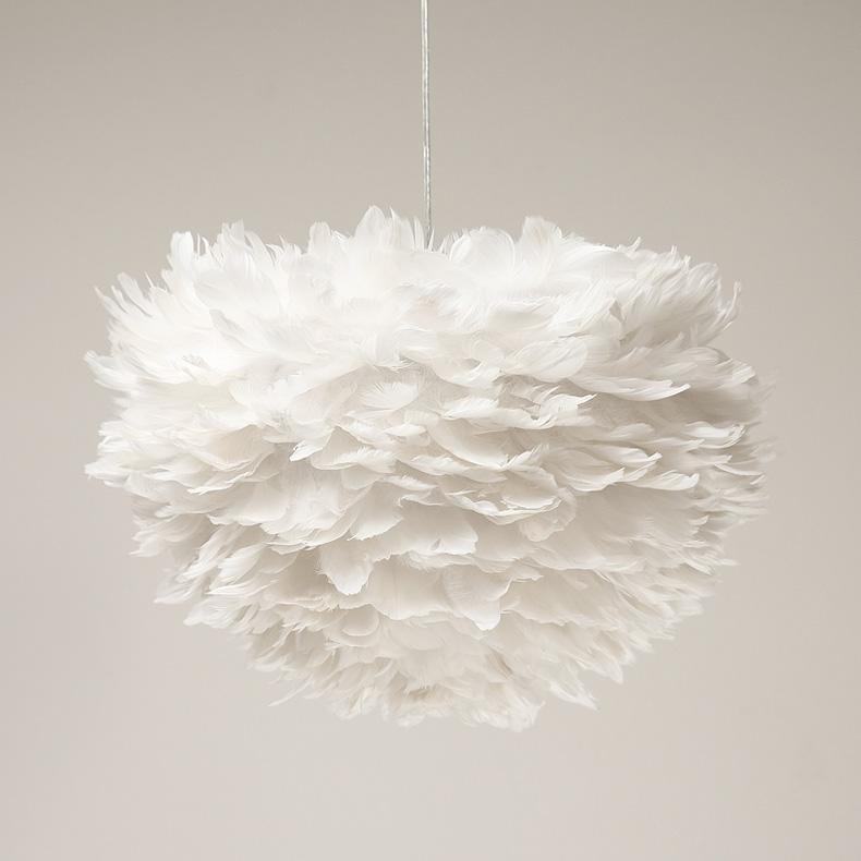 Achetez en gros blanc plume pendentif lampe en ligne des for Gros luminaire suspendu