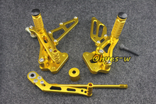 Buy Gold Adjustable Rear Sets Motorcycle Foot Pegs GSXR600-750 06-09 K6 K8 universal for $128.25 in AliExpress store