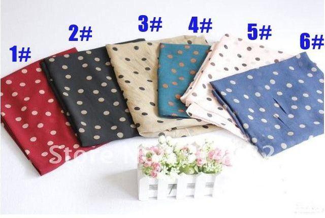 free shipping.women's fashion chiffon polka dot popular silk long muslim hijab scarf/scarves/shawls.165*70cm,20pcs/lot