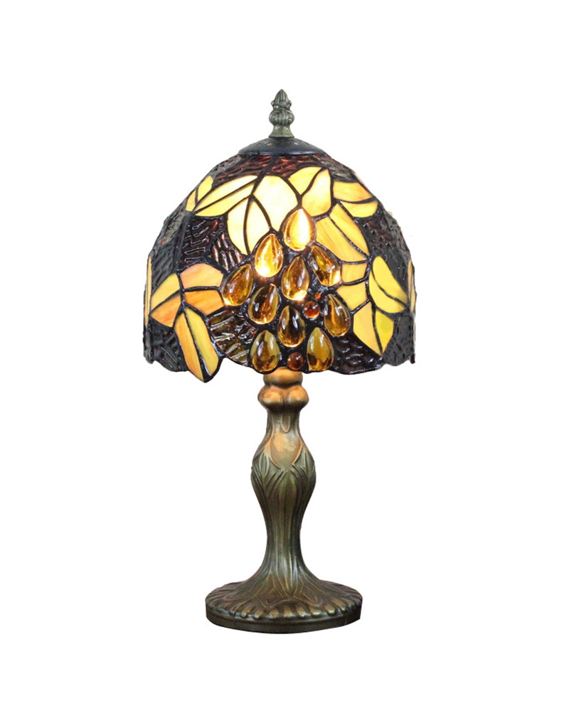 EMS Free Ship Table Lamps Luxury Jeweled Tiffany Desk Light Fixture Mediterranean Sea Style Bedroom NO.8S16003-8BT311R(China (Mainland))