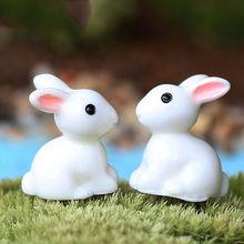 Heißer Verkauf 1 para Mini Kaninchen Ornament Miniatur Figurine Blumentopf Garten Decor Spielzeug Hause Handwerk Klassische Kunst sammeln(China (Mainland))