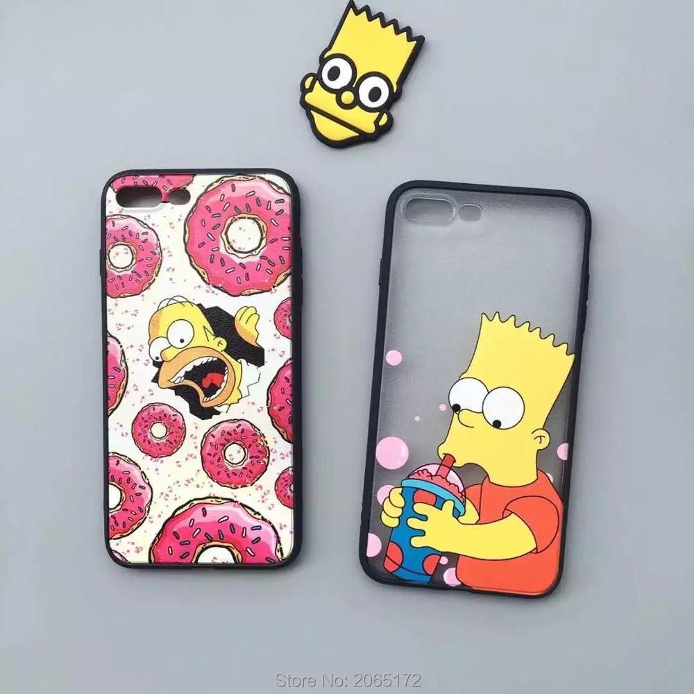 Dirt-resistant Hot Sale Cute Cartoon Simpson Movie Eat Phone Case,silk Print Soft Cover For Iphones 6/6s 6plus/6splus 7 7plus