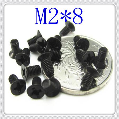 High Quality  DIN965 Steel With black M2*8 Phillips Flat Head Machine Screw(cross recessed countersunk machine screw)<br><br>Aliexpress
