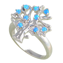 Buy New arrival ! Blue fire Opal Silver Stamped Rings for women fashion Opal jewelry USA sz#7#8 #9 OR582A Hotsell online for $8.51 in AliExpress store