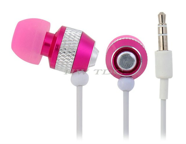 Free Shipping  new 2013 3Colors 3.5 mm Plug In-ear Earphone for iPhone, iPad, iPod (Black/White/Pink) hot selling items