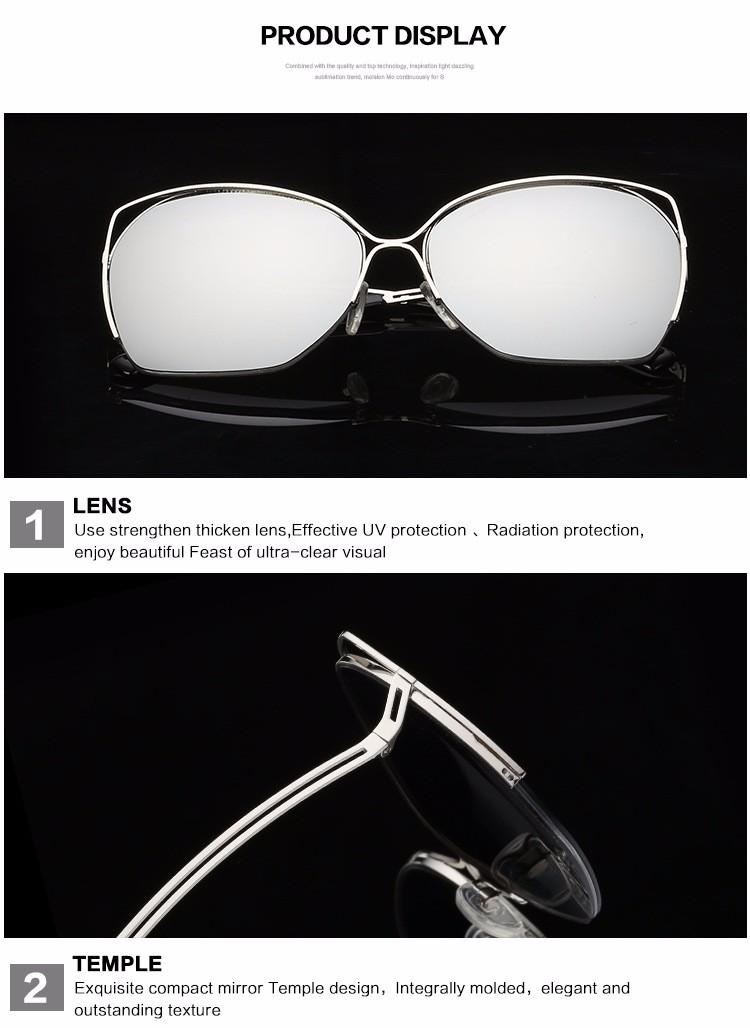 2016 women sunglasses vintage cat sunglasses for women brand desinger metal fashion ladies sunglsses UV400 Eyeware