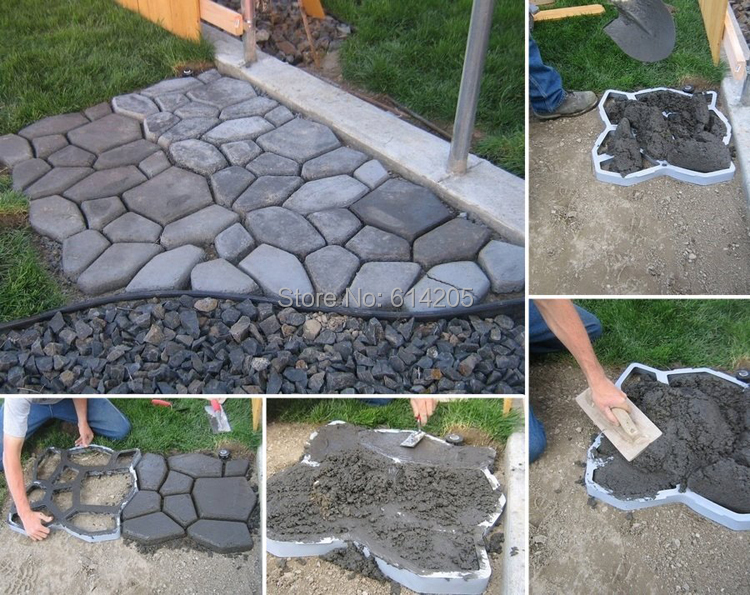 Furniture Confident Diy Garden Concrete Paving Mold For Pavement Walkways For Garden Path Paving Mold Pathmate Shovel