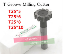 Buy Free delivery 4PCS 25*5/6/8/10 mm high speed steel Straight shank T groove milling cutter T type Straight shank milling cutter for $33.67 in AliExpress store