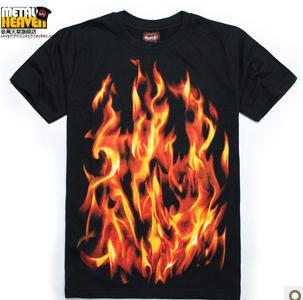 Popular fire heaven aliexpress for On fire brand t shirts